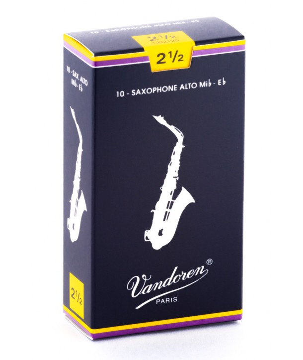 Vandoren Traditional Alto Saxophon Reeds, Box of 10