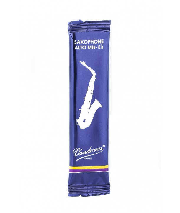 Vandoren Traditional Alto Saxophone Reeds, Flow-pack of 1