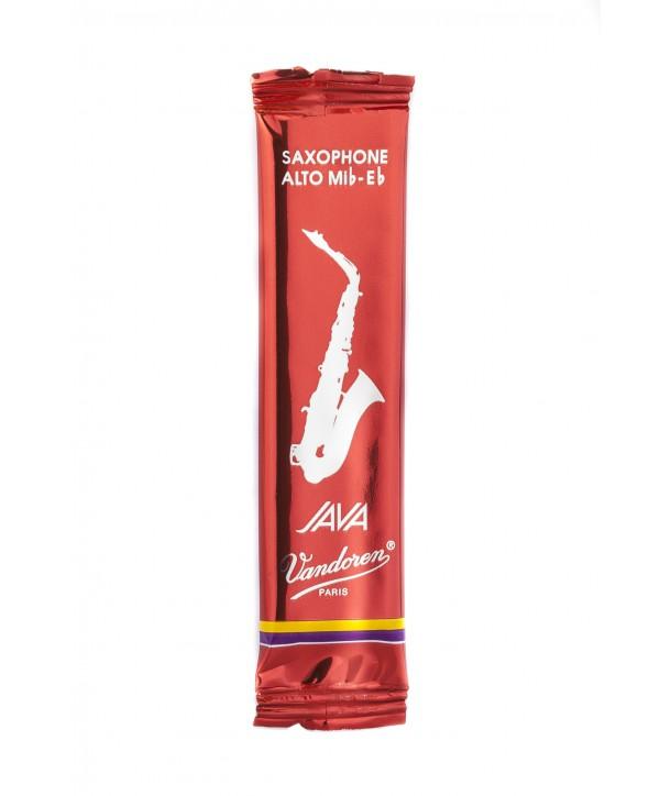 Vandoren Java Red Alto Saxophone Reeds, Flow-pack of 1