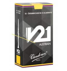 Vandoren V21 German Bb Clarinet Reeds, Box of 10