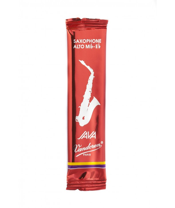 Vandoren Java Red Alto Saxophone Reeds, Flow-pack of 1