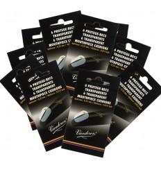 "10 Pack of 6 Vandoren transparent cushions, thick .014"""